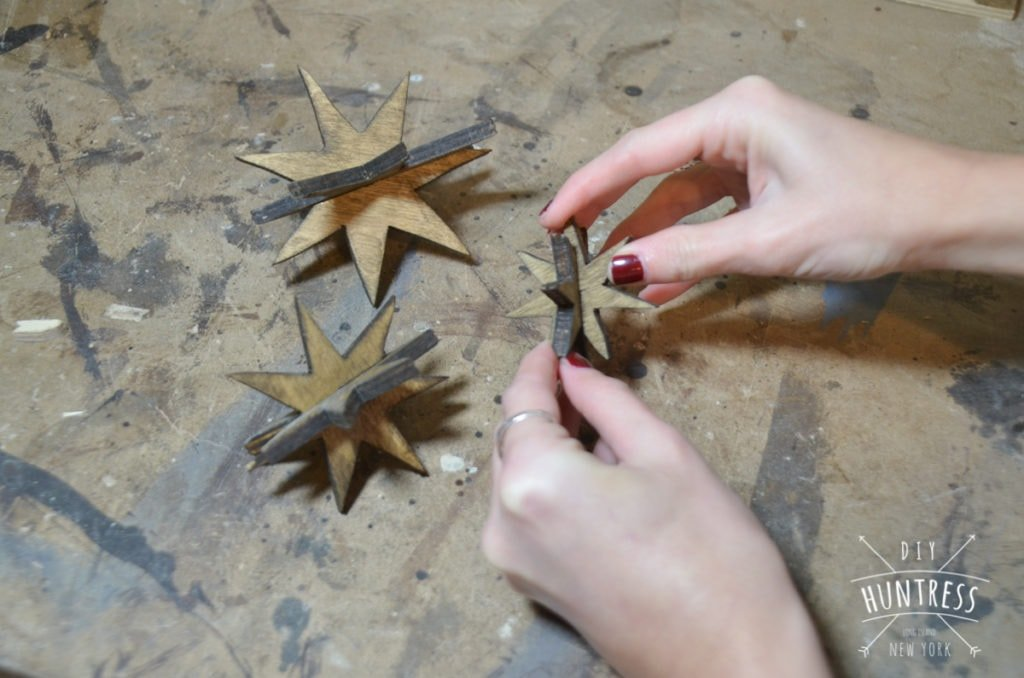 how to make wooden stars