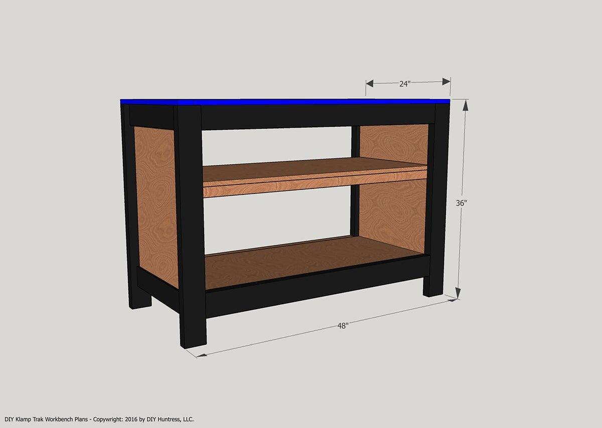 build a custom workshop bench