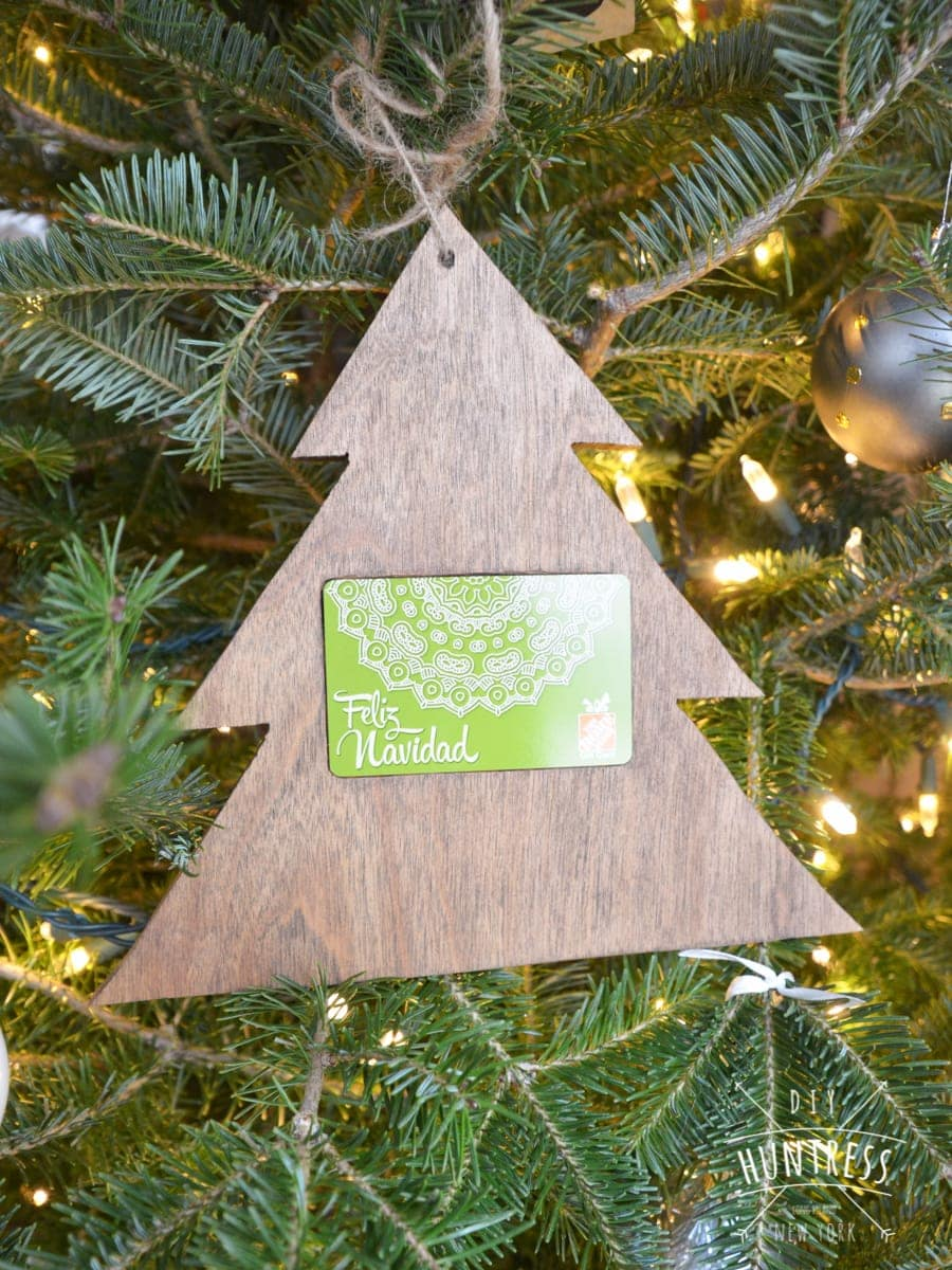 wooden gift card holder