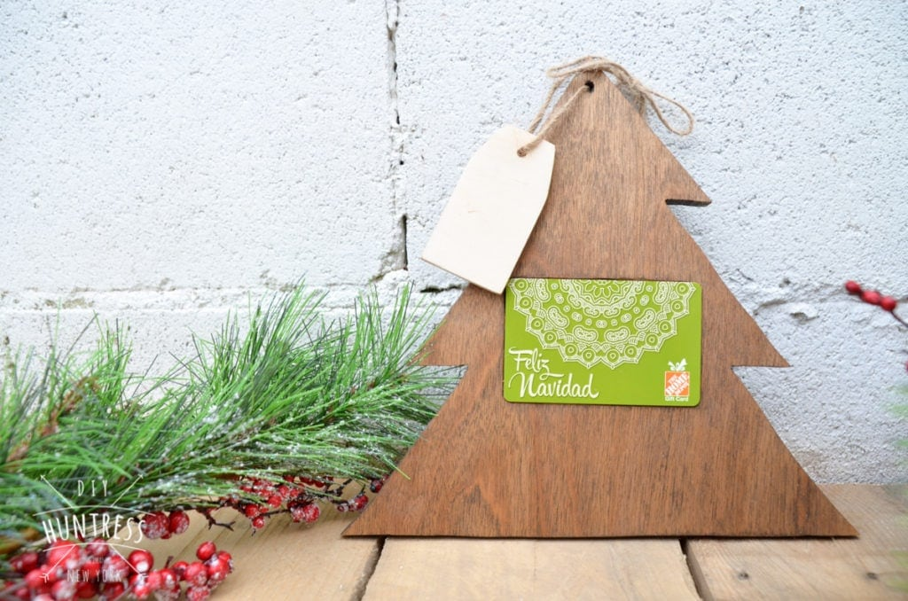 Home Depot Virtual Party: DIY Christmas Tree Gift Card Holder - DIY ...