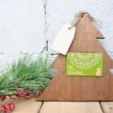 Home Depot Virtual Party: DIY Christmas Tree Gift Card Holder