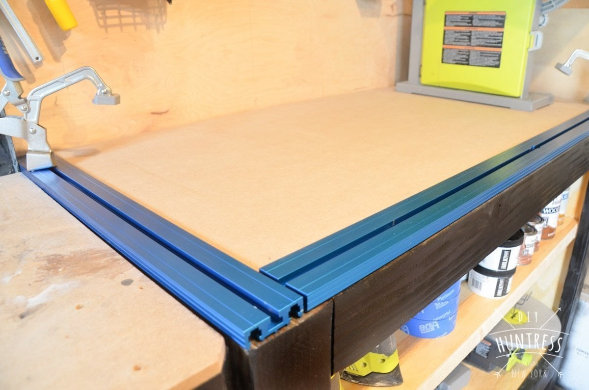 workbench with built in clamps