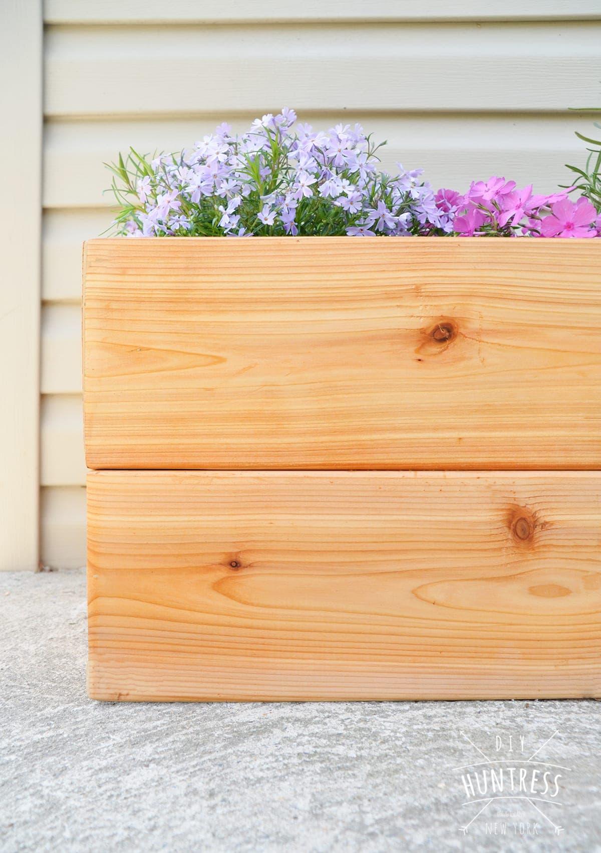 cedar garden planter