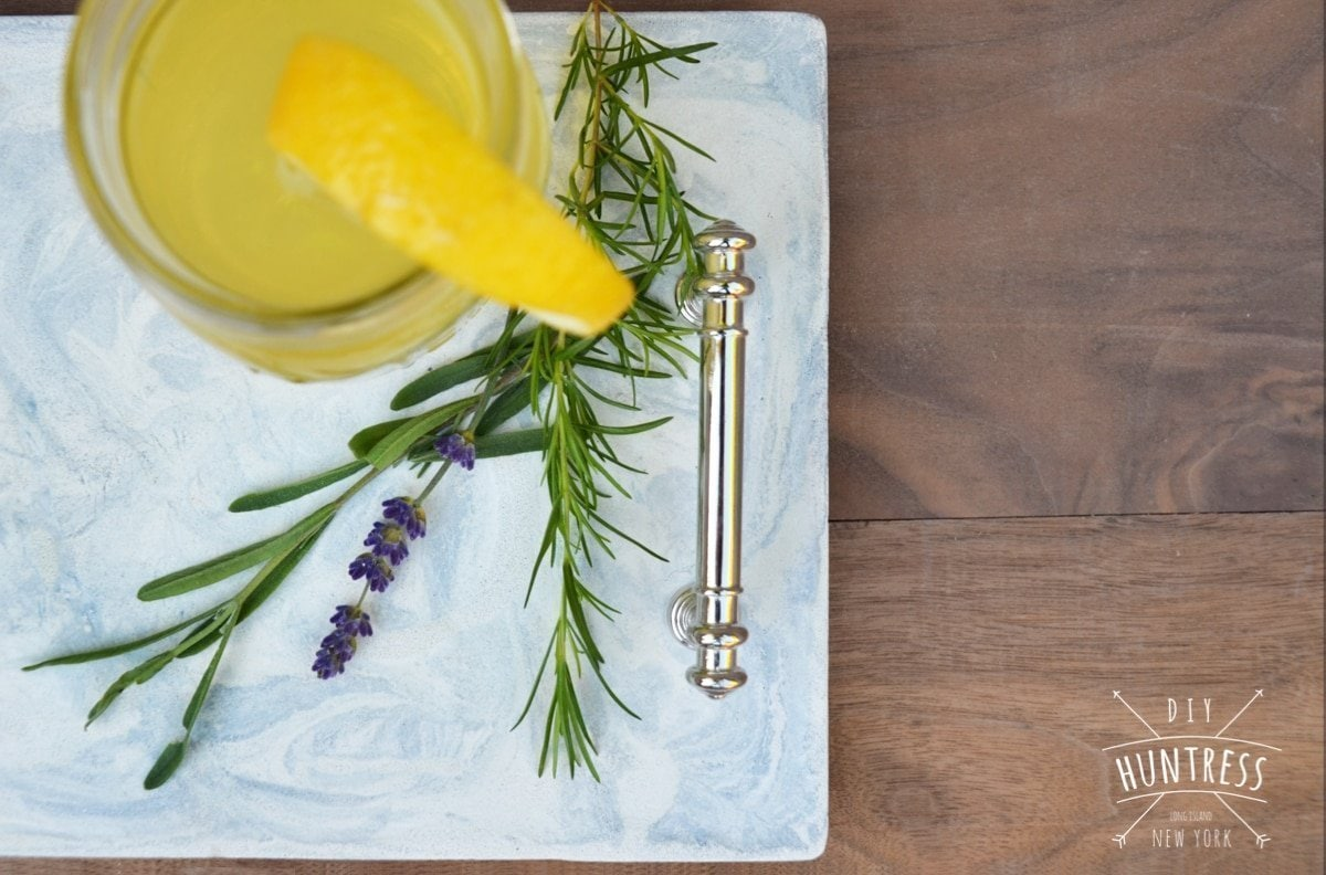 faux marble serving tray