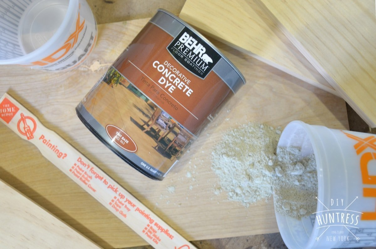 how to make concrete tray