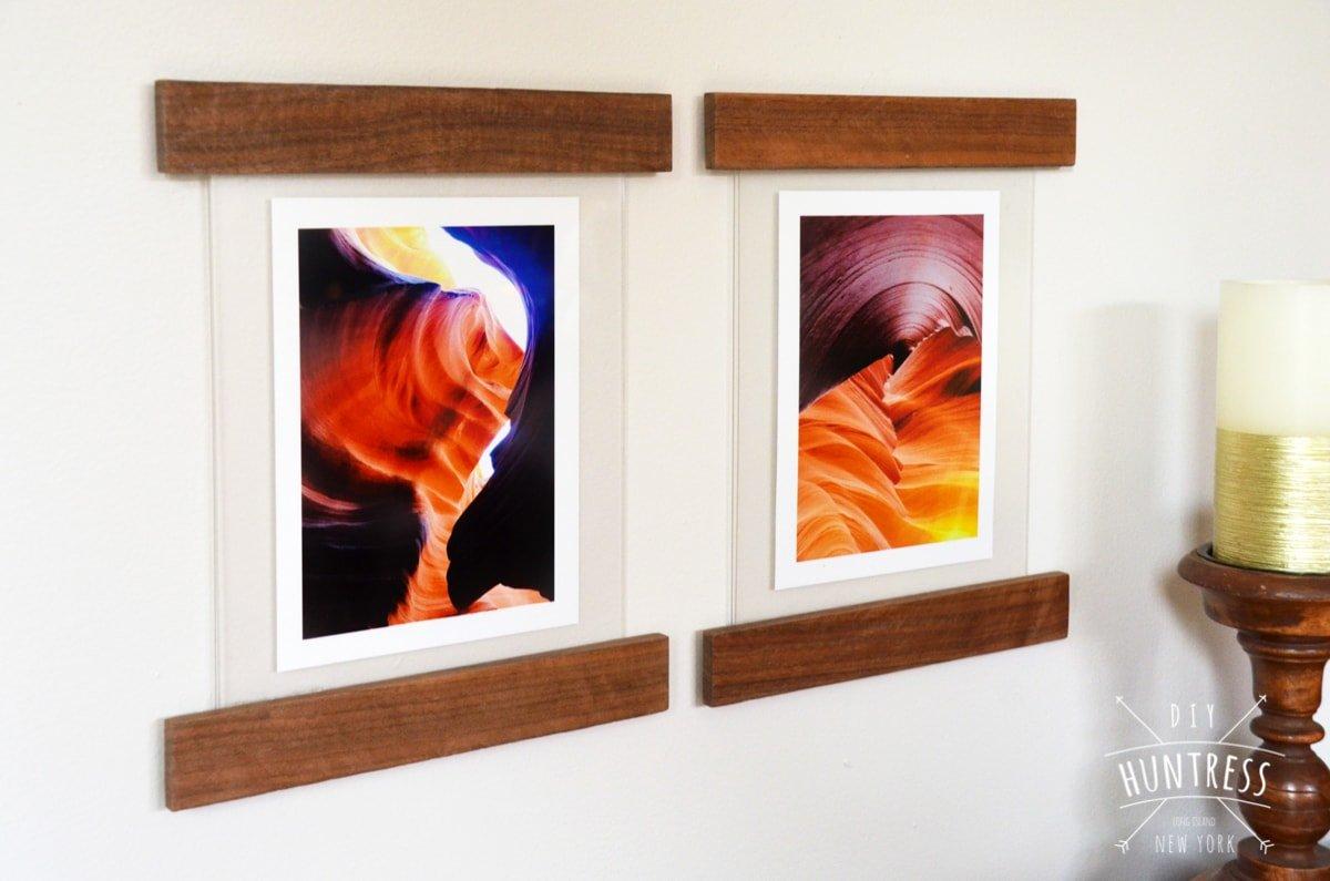 hanging picture frame diy