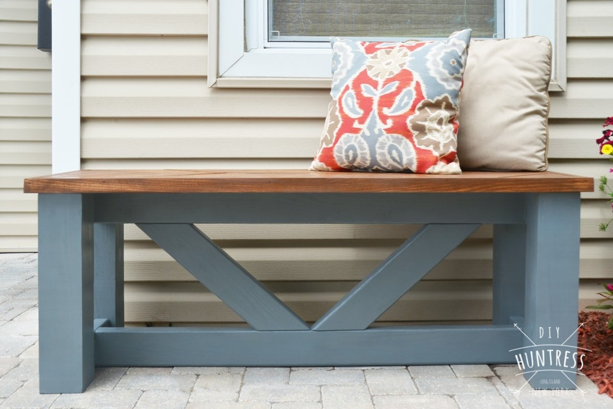 Brilliant Diy Wooden Chevron Bench Diy Huntress Gmtry Best Dining Table And Chair Ideas Images Gmtryco