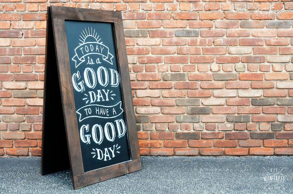 large wooden chalkboard