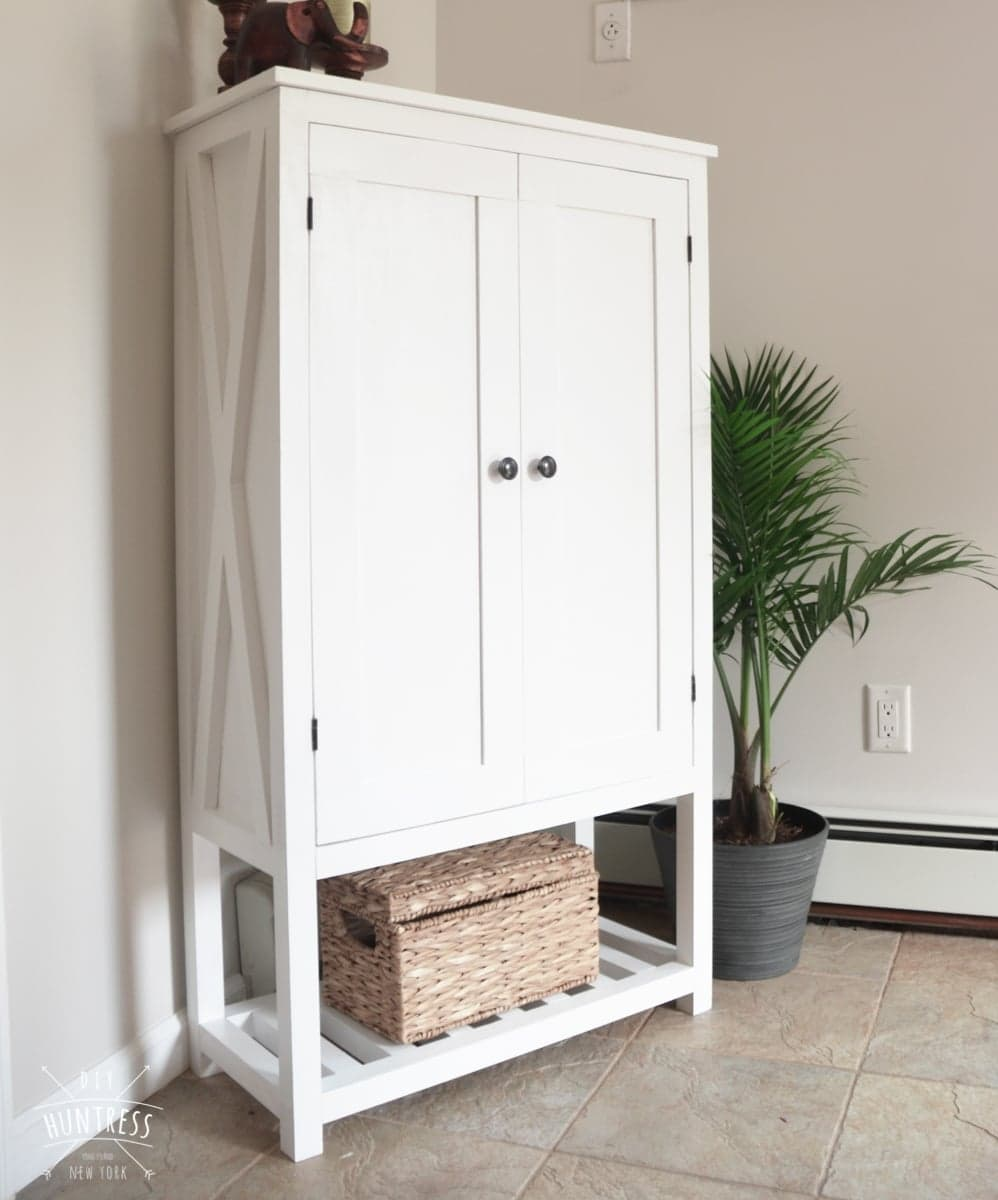 Diy Wooden Storage Cabinet Diy Huntress