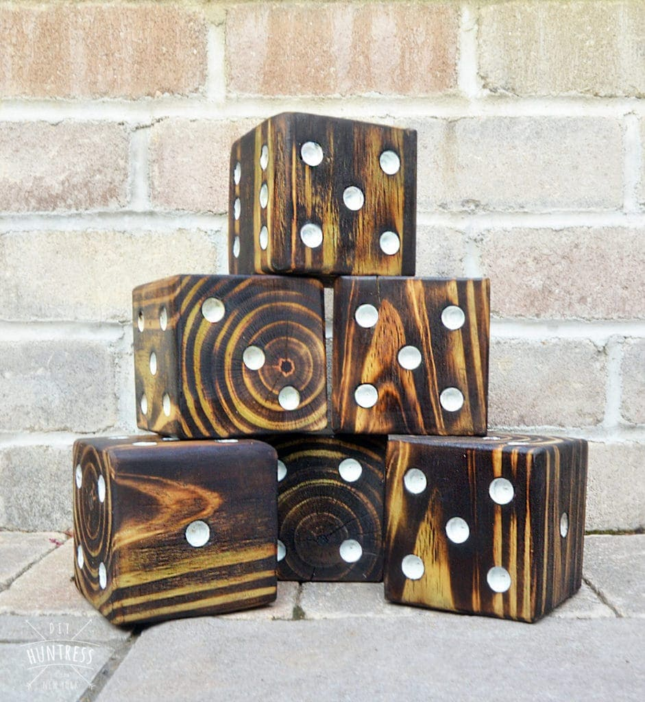 custom lawn dice game for wedding