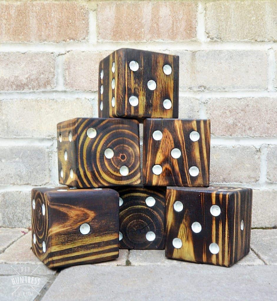 custom lawn dice game for wedding