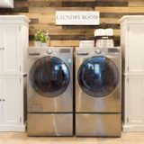 DIY Wood Accent Wall & Laundry Room Makeover