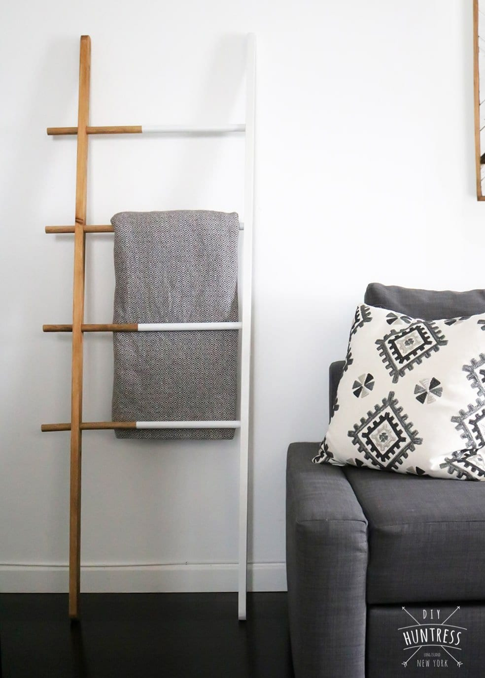 diy blanket ladder contemporary