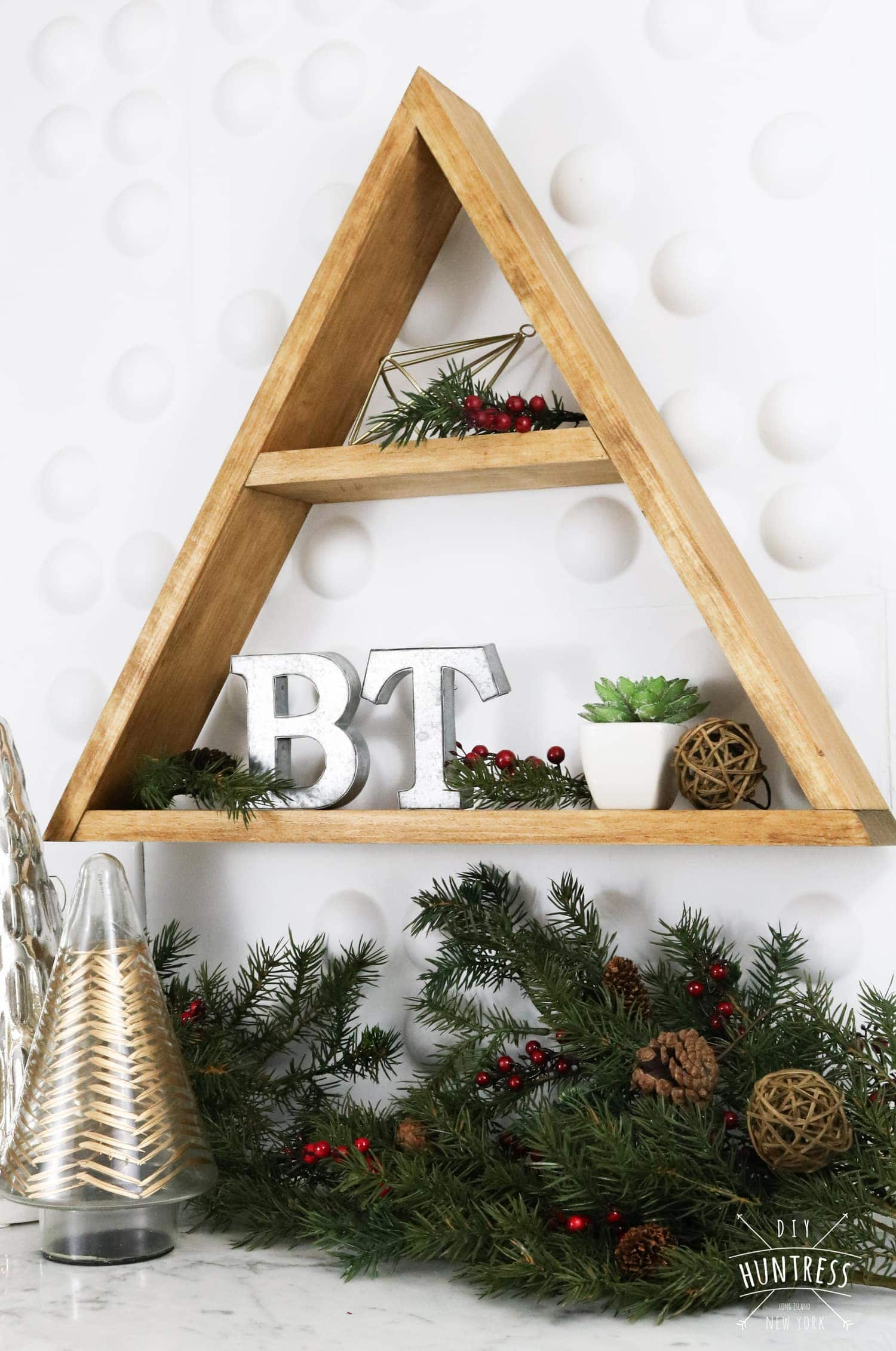 how to build a triangle shelf