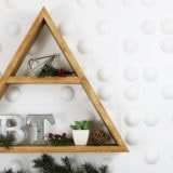 DIY Triangle Keepsake Shelf