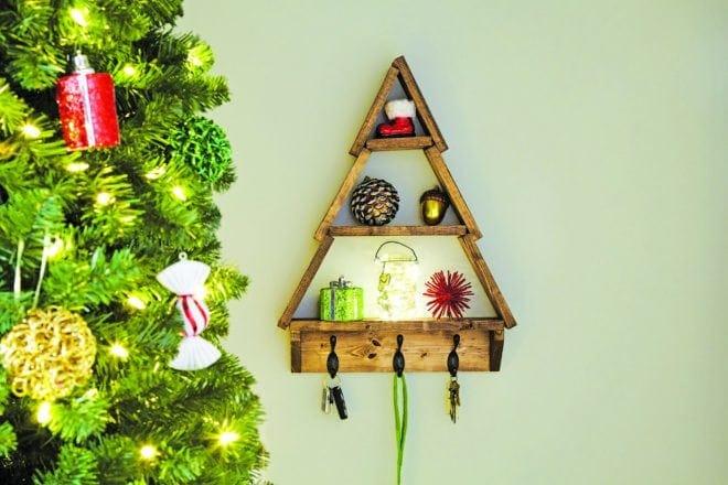 diy holiday shelf