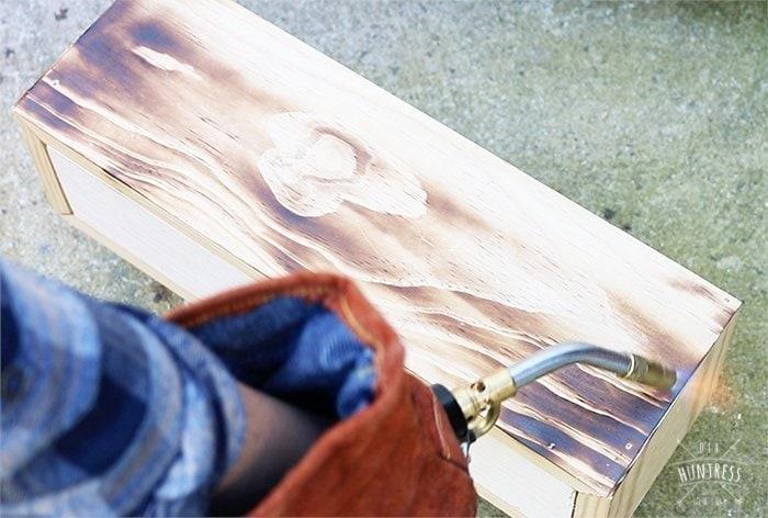 Wood burning finish