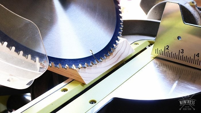 How to cut a bevel