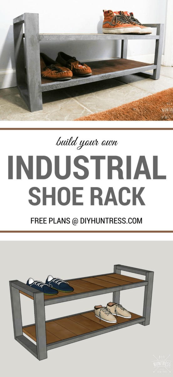 Wooden Industrial Shoe Rack Pinterest
