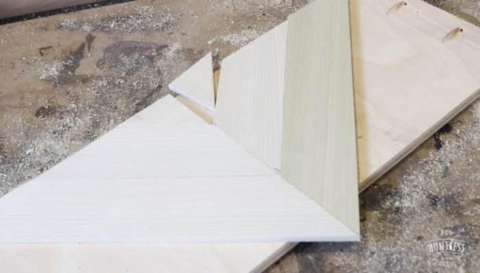 how to make chevron wood pattern