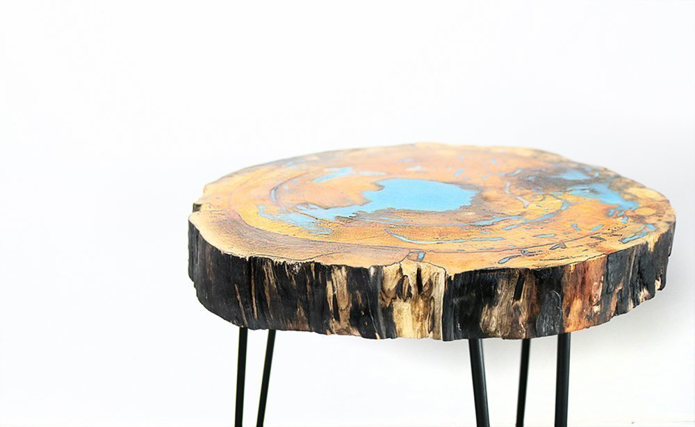 DIY Live Edge Resin Table