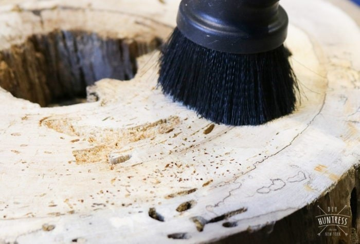 how to clean a slab of wood