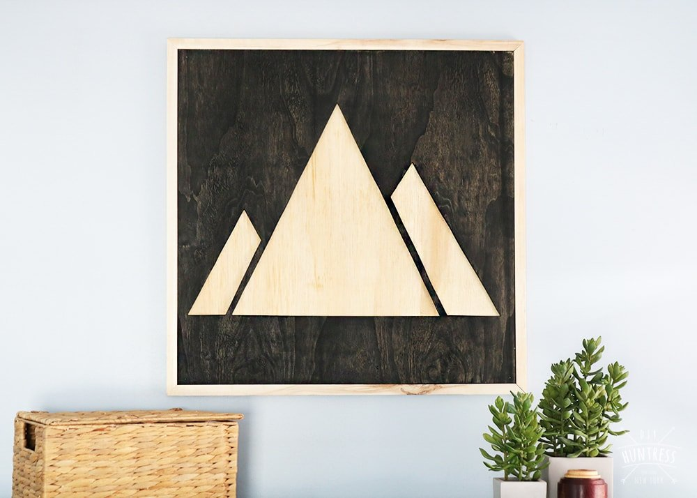 DIY Plywood Mountain Wood Art
