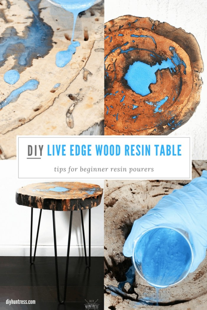 pinterest live edge table