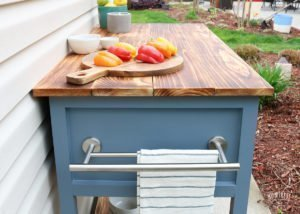 Diy Mobile Kitchen Island Grill Cart 42