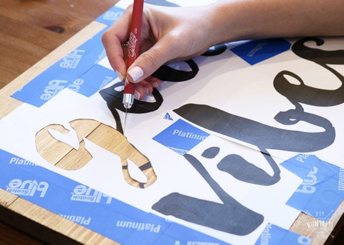 how to make a stencil from hand