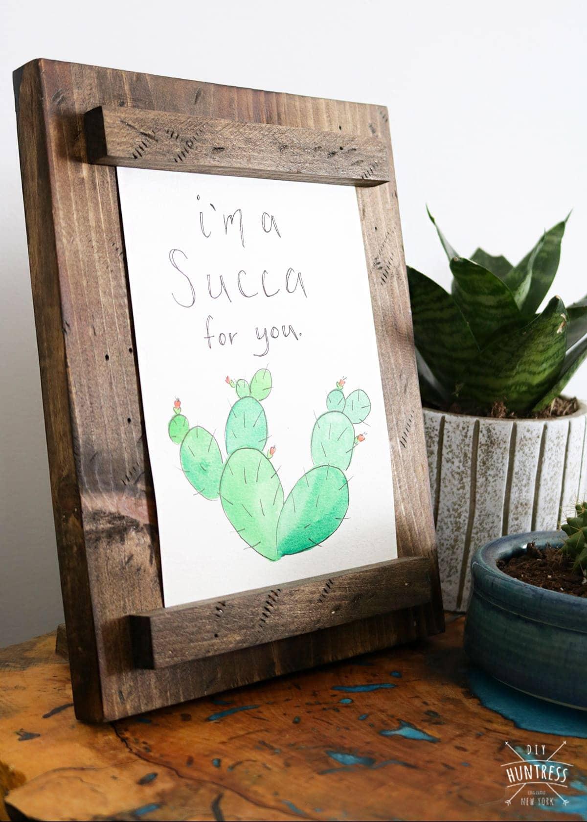 custom frame for watercolor artwork