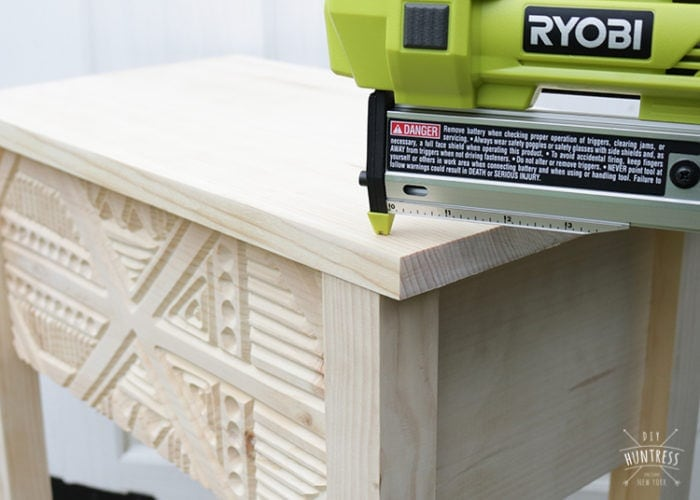 how to use a pin nailer