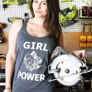 girl power tank top diy huntress