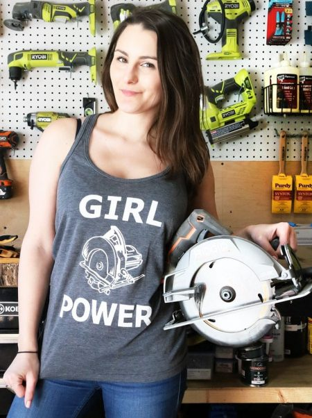 girl power tank top diy huntress