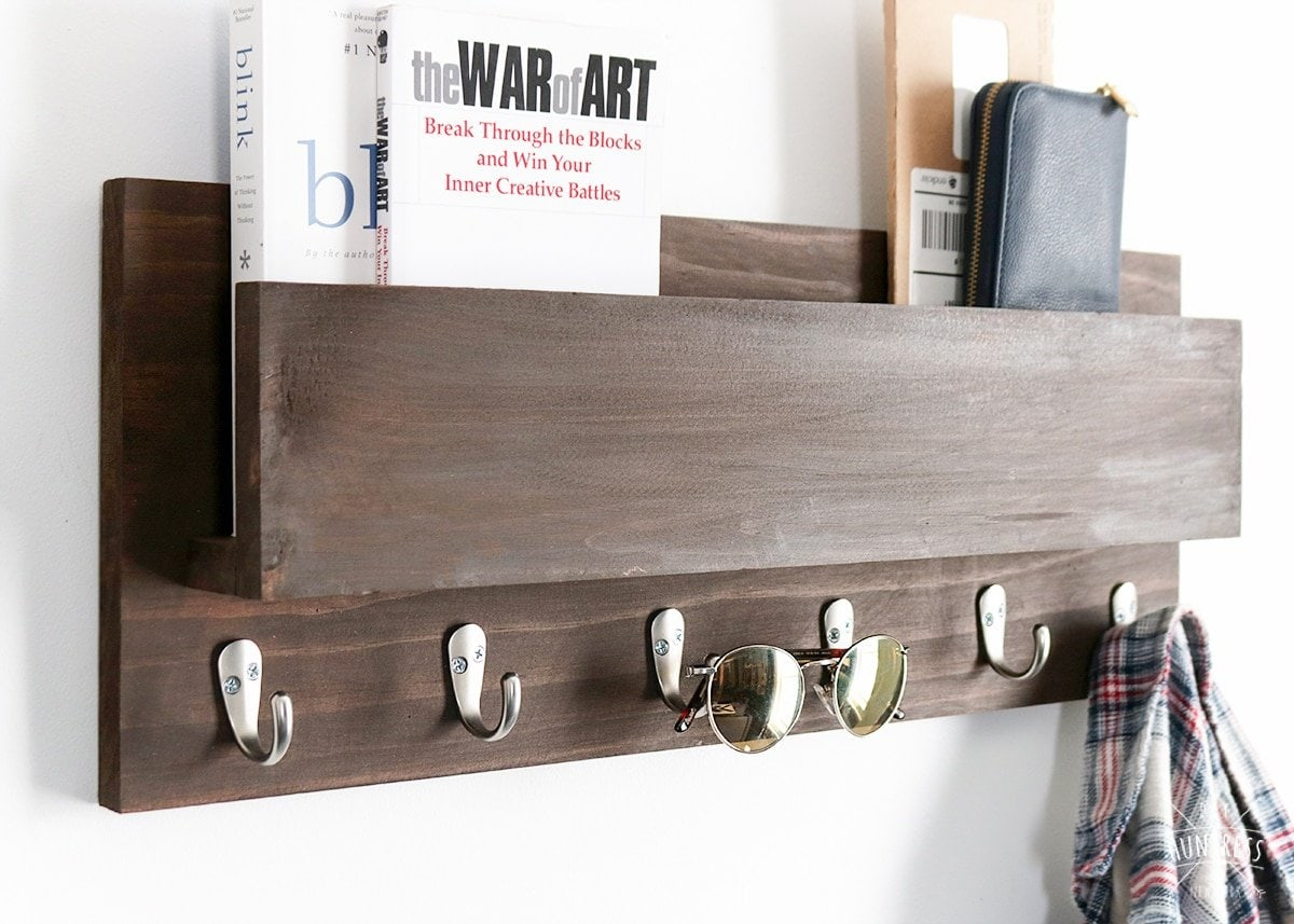wood coat rack diy