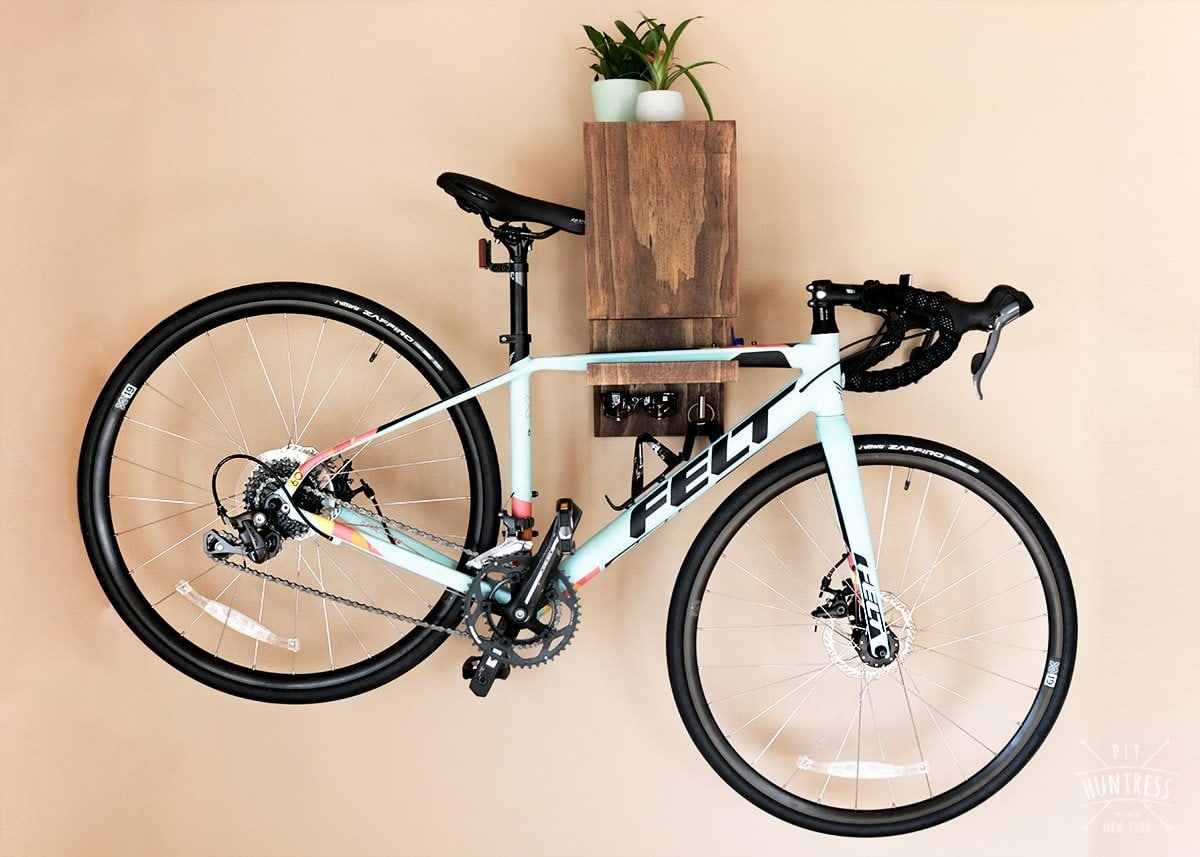 DIY Wall Mounted Bike Rack - DIY Huntress