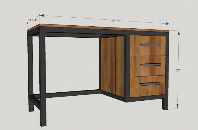 free desk plans