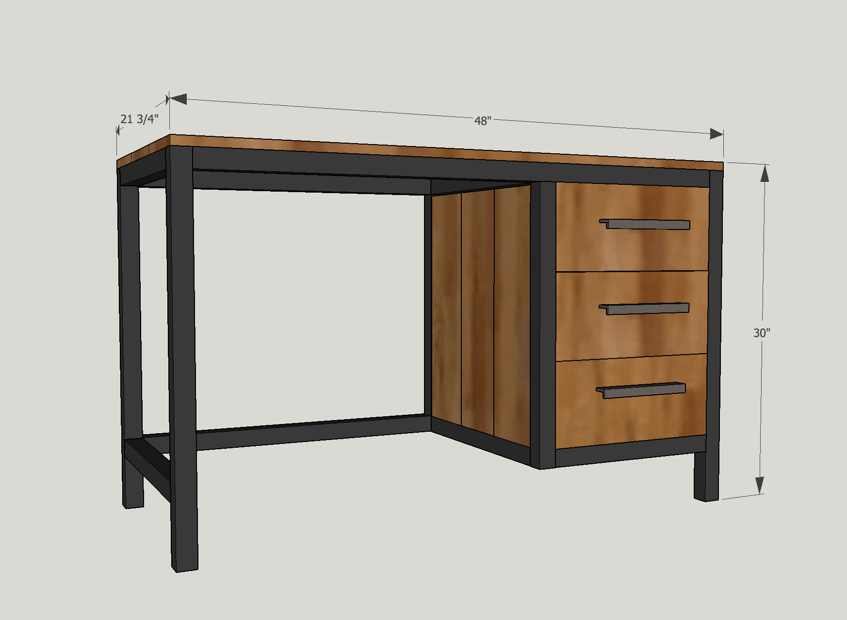 Instagram Builder's Challenge (IGBC) Season 6: DIY Industrial Desk