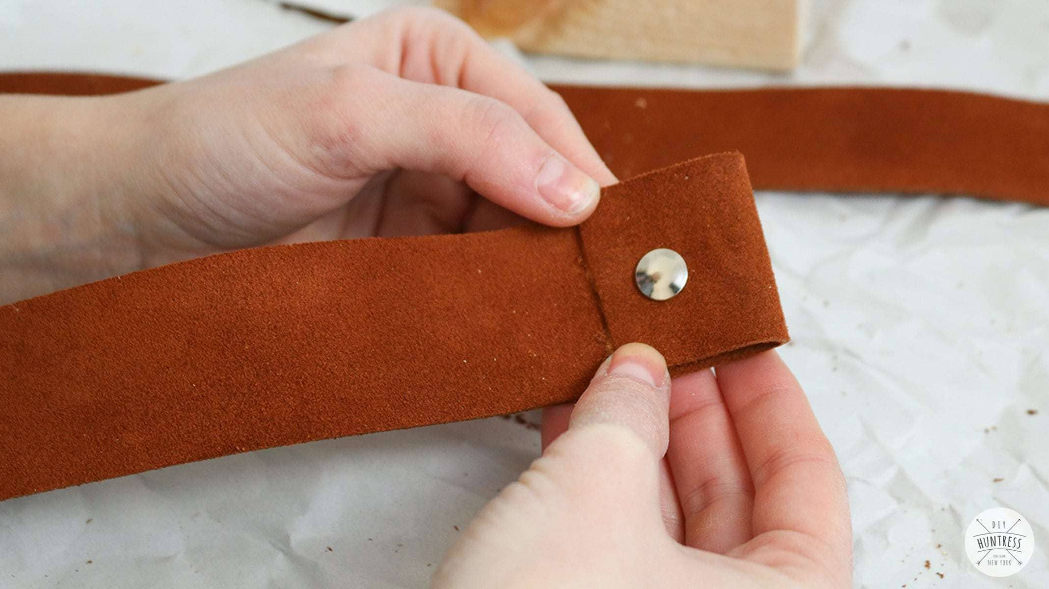 how to attach buttons to leather