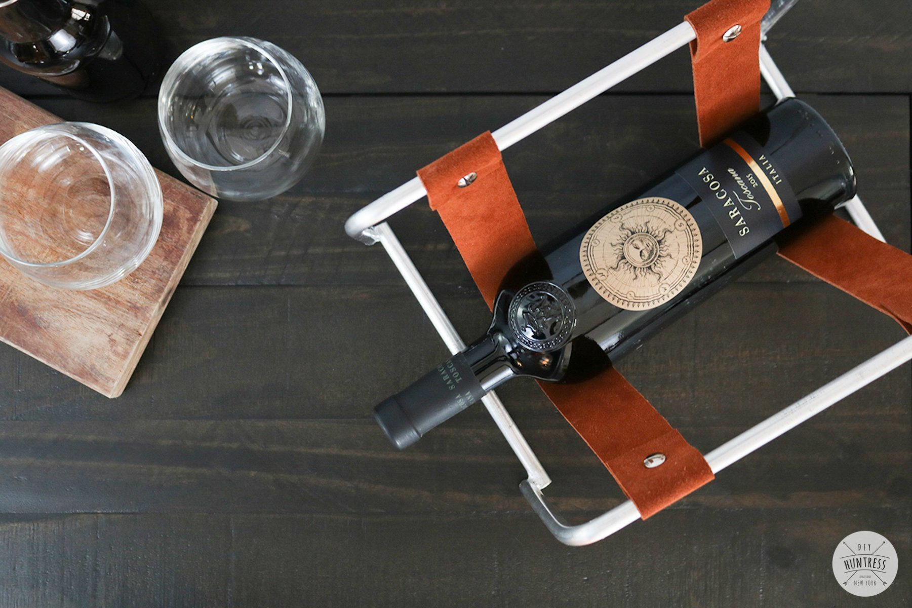 DIY Metal And Leather Wine Rack (No Welding!)