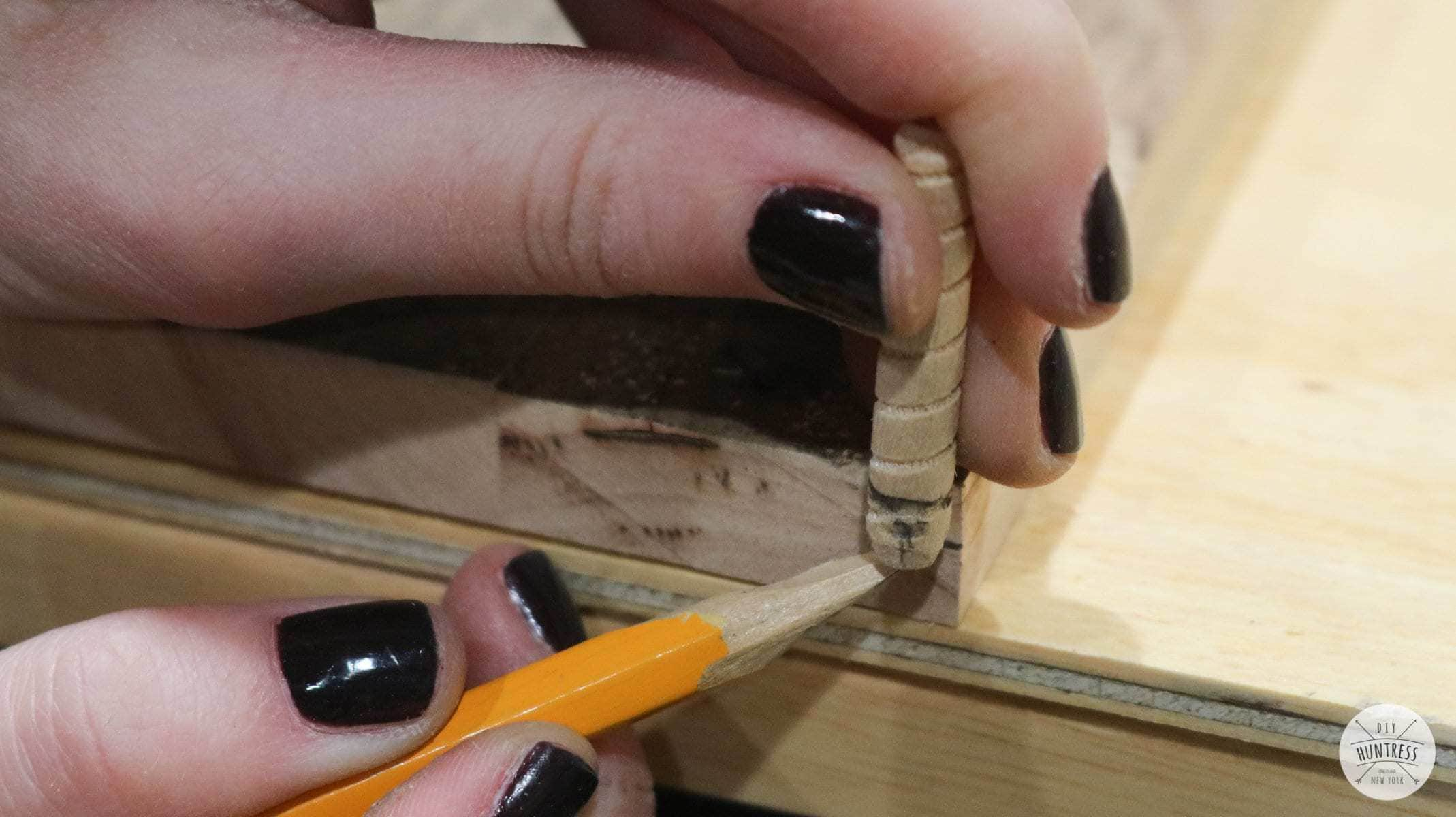 how to measure wood dowels
