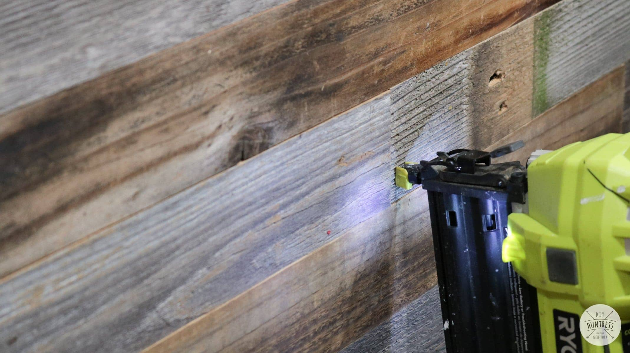 how to install reclaimed wood wall