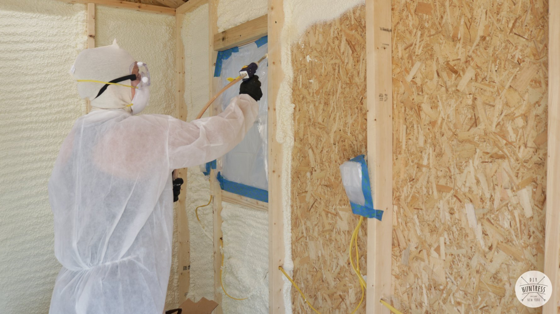 how to spray insulate