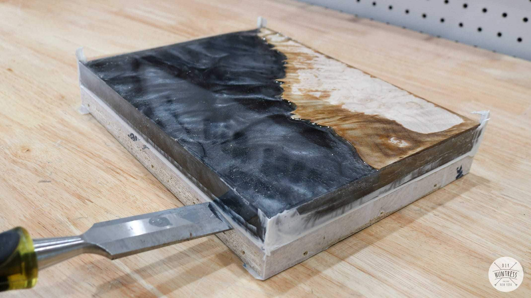 how to remove wood and resin from mold