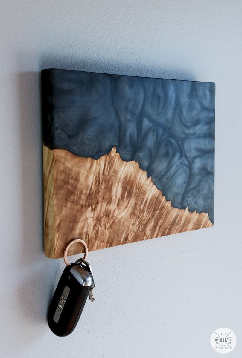 wood key holder