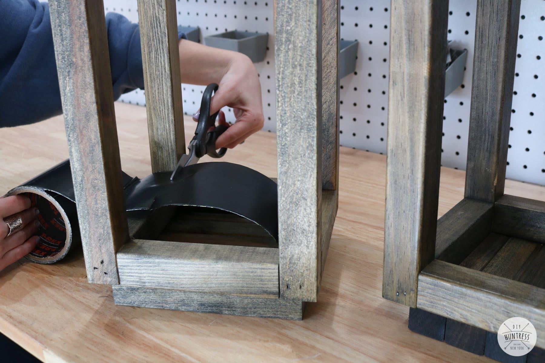 waterproof tape on wood