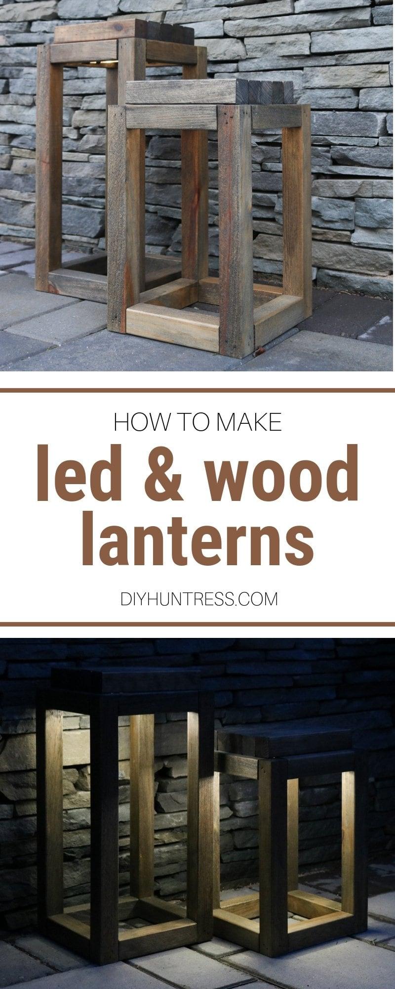 DIY Wooden Lanterns With LED Lights