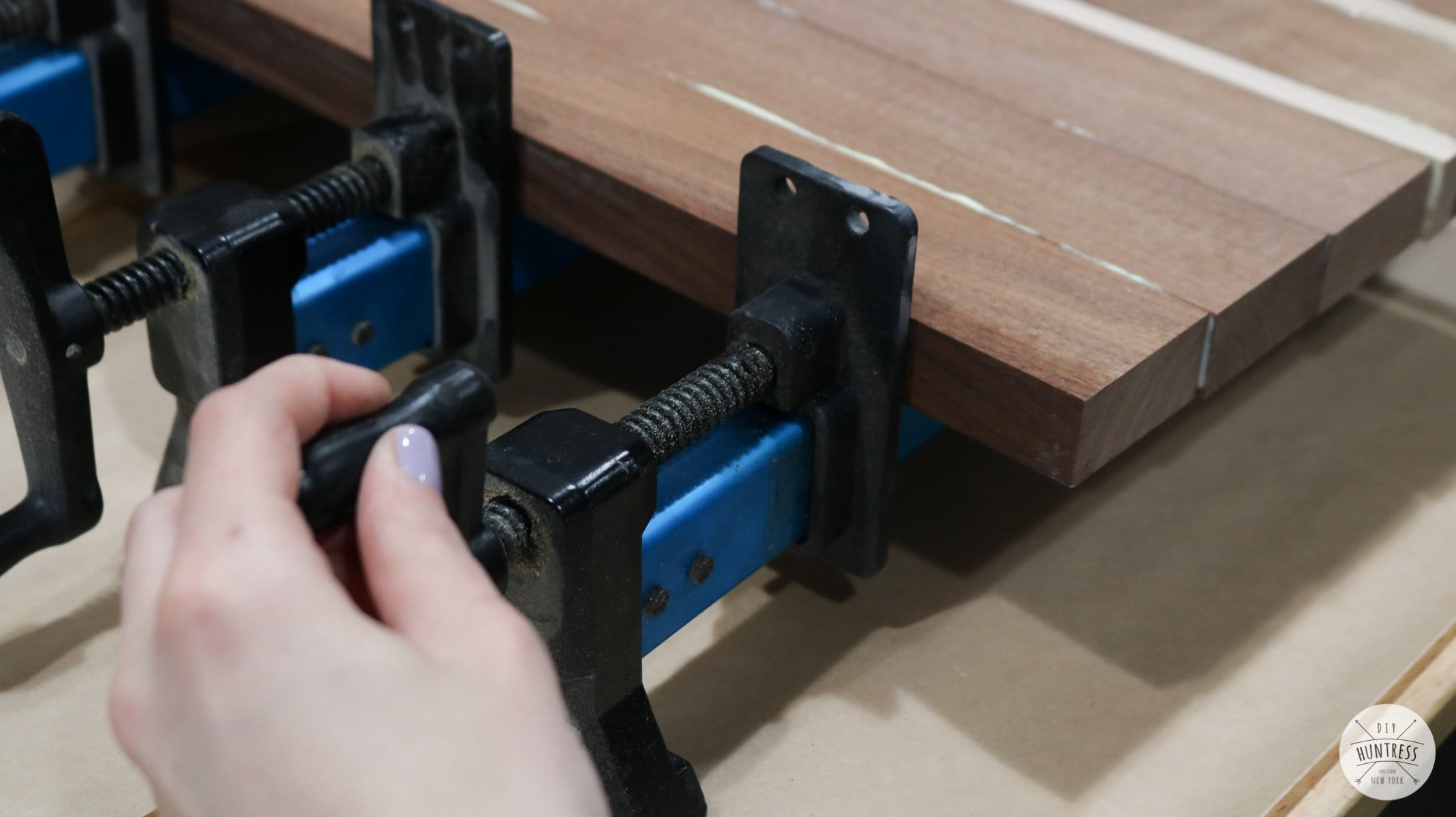 how to clamp wood