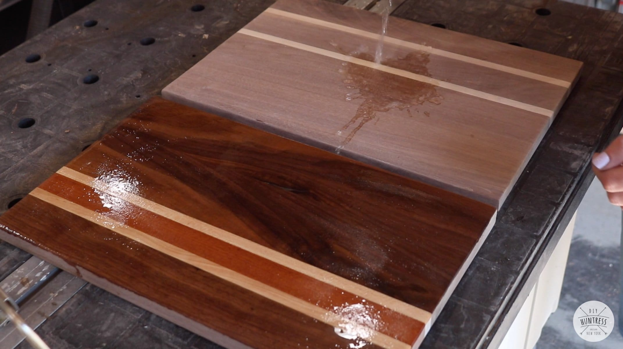 how to raise grain on cutting board