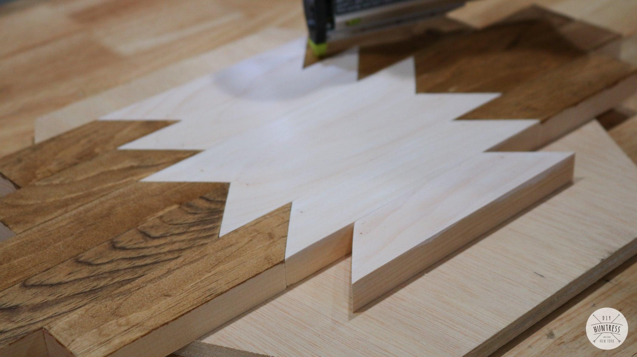 how to make geometric wood art